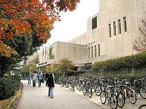 Outside the Norris University Center