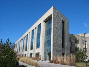 Front of the Crowe Hall Building